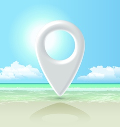 seashore pin vector image