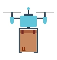 Drone technology isolated icon design vector