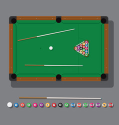 A billiard table with green vector