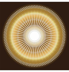 Abstract rays circular dark yellow brown backgrou vector image