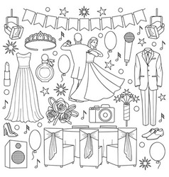 ball doodle set vector image vector image