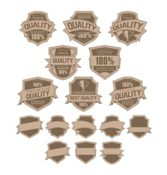Best Quality Labels vector image vector image