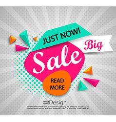 Big sale - banner with halftone background vector image vector image