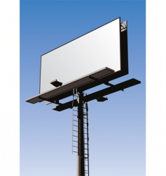 Billboard sign vector