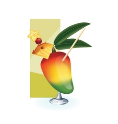 cocktail decor styled exotic fruit vector image