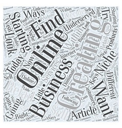 Creating and Starting an Online Business Word vector image vector image