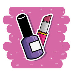 cute fashion patch pop art comic style vector image vector image
