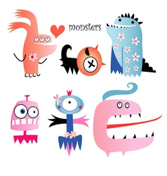 Different funny monsters vector image vector image