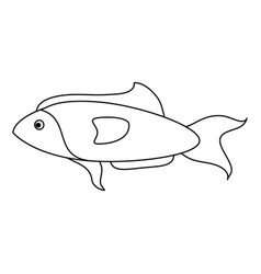 Fish for eating icon image vector