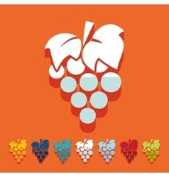 Flat design grapes vector