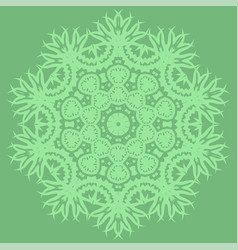 Green oriental geometric ornament vector