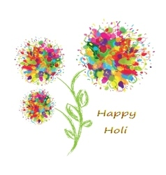 Happy holi colourful background vector