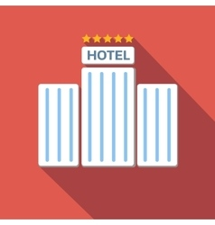 Hotel colored flat icon vector