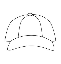 Isolated cute beach cap vector