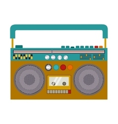 Isolated tape recorder design vector image vector image