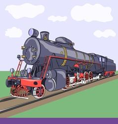 locomotive a vector image