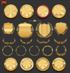 luxury golden design elements collection vector image