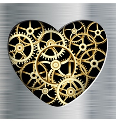 metal heart vector image