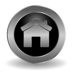 Metallic main button vector image vector image