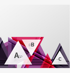 Modern geometrical triangle abstract background vector