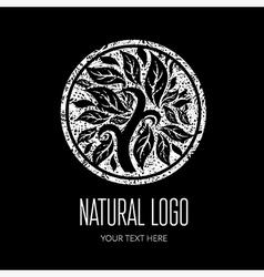 Natiral logo grunge 01 2 vector