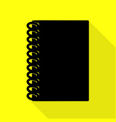 notebook simple sign black icon with flat style vector image vector image