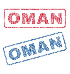 Oman textile stamps vector