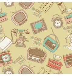 Retro radios and telephones vector