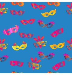 Seamless pattern with carnival masks vector