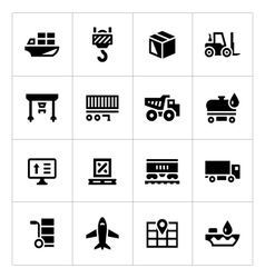 Set icons of logistic vector image