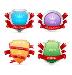 Set of badges isolated on white vector