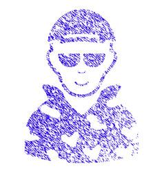 Swat soldier icon grunge watermark vector