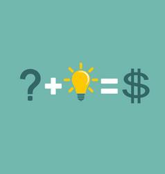 Transform idea into business concept vector