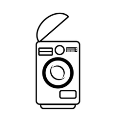 Washing machine home appliance outline vector