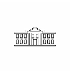 White house usa icon outline style vector