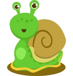 Featuring happy snail vector