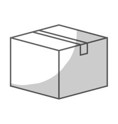 Carton box icon vector
