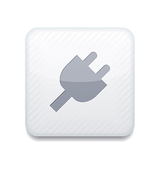 Plug white icon vector