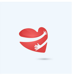 hug yourself logolove yourself logolove and vector image