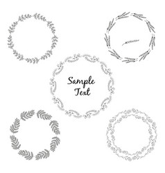 circular decorative elements for your design vector image