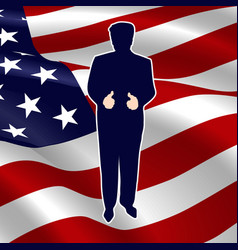 The silhouette of the president of the usa vector