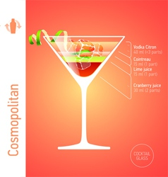 Cosmopolitan cocktail vector