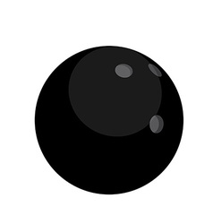 Black bowling ball vector