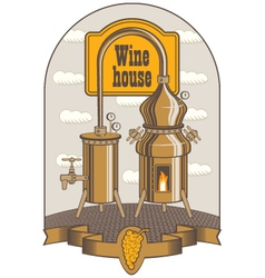 winery vector image