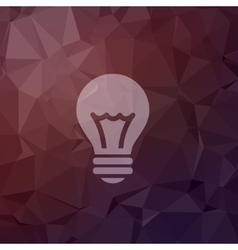 Bulb idea in flat style icon vector