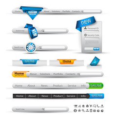 Website menus vector