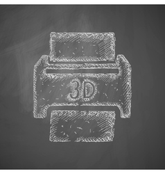 Three d printer icon vector
