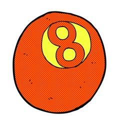 Comic cartoon pool ball vector