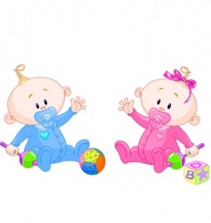 sweet twins vector image