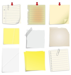 Set of post it notes vector image